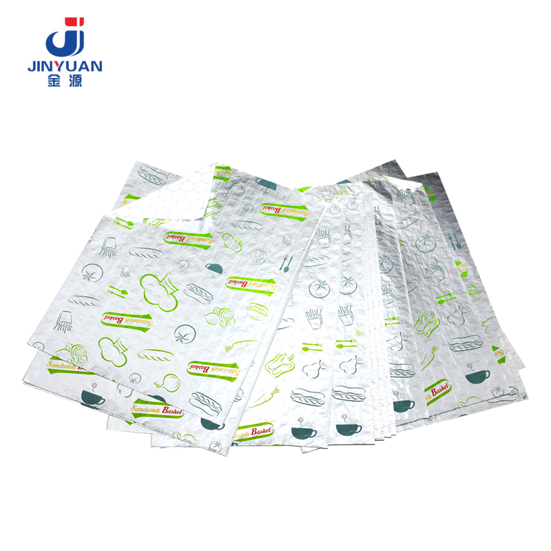 Hamburger And Sandwich Wrap Foil Paper03